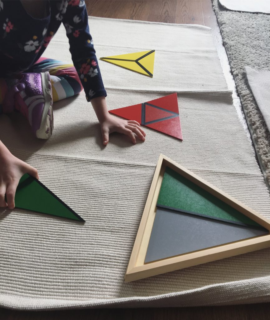 Constructive Triangles - Learning Tree Montessori Sensorial Material