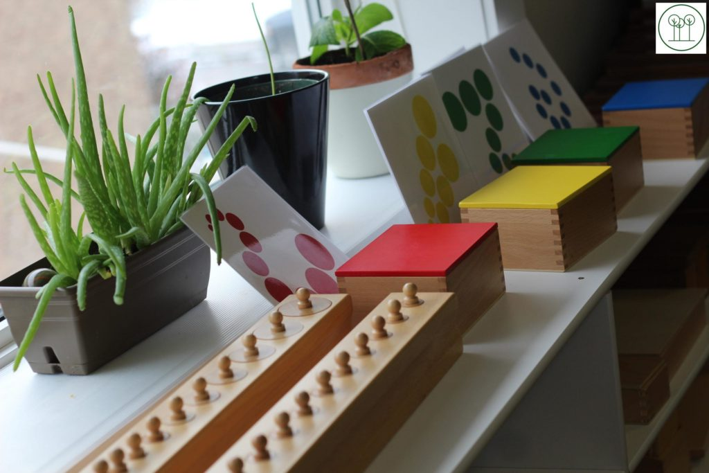 Sensorial Material in the Casa Room at Learning Tree Montessori