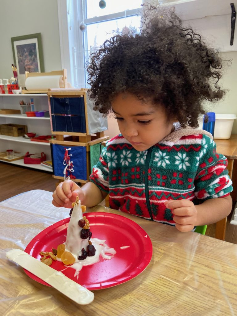 Pyjama Day, Christmas Cone Decorating, Learning Tree Montessori.